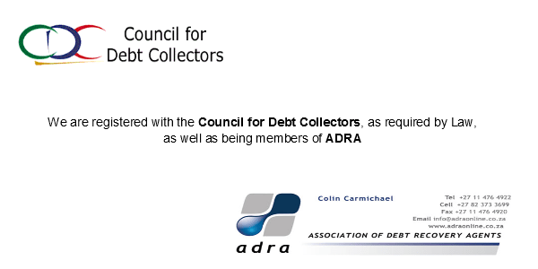 DebtCollectorsCouncilandADRALogos Debt collectors in South Africa